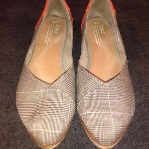 TOMS Women's Plaid Ballet Flats Shoes Size 9